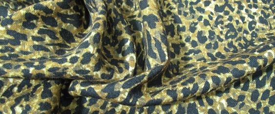 Rest leichte Schurwolle - animal print