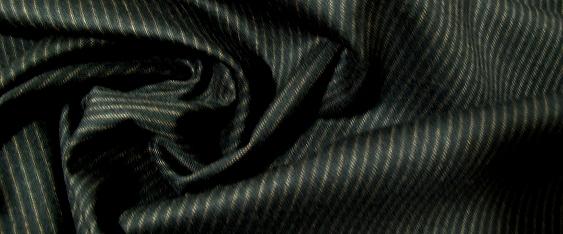 Rest Schurwolle - schwarz mit beige