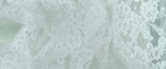 Tüllspitze - weiß