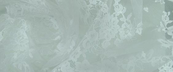 Crinkle-Tüllspitze - weiß