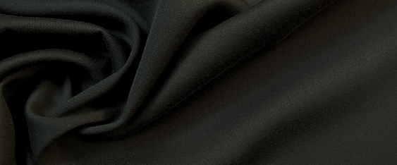Baumwoll-Seidenmischung - schwarz