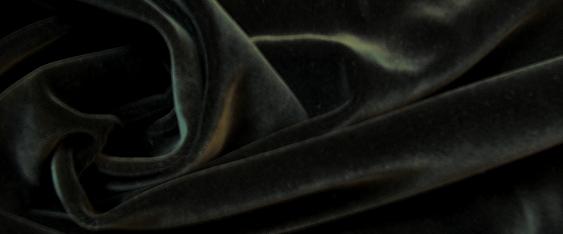 Baumwollsamt - schwarz
