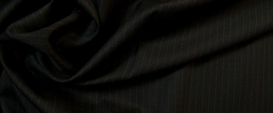 Schurwolle mit Kaschmir - Nadelstreifen