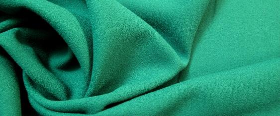 Crêpe Georgette, Albin Reissmann - smaragdgrün