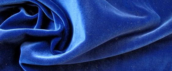 Rest Baumwollsamt - königsblau