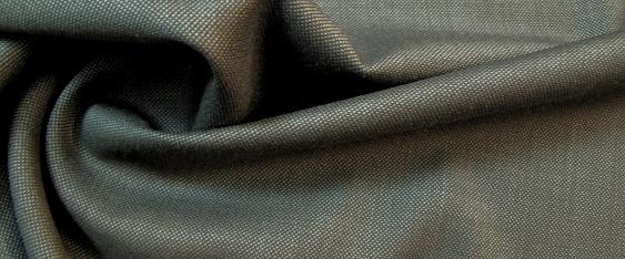 Schurwolle mit Seide, blau-grau