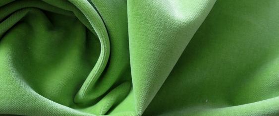 Baumwollsamt - apfelgrün