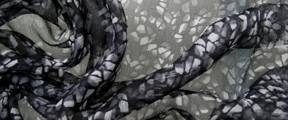 Chiffon, schwarz und grau