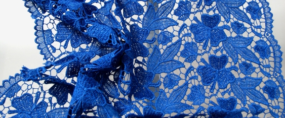 Rest Spitzenborte - königsblau