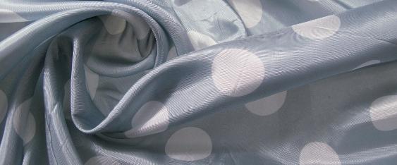 Polka Dots - weiß auf bleu