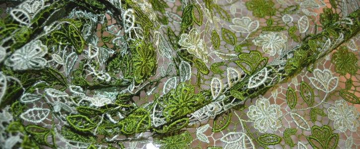 Spachtelspitze, gras - und mintgrün
