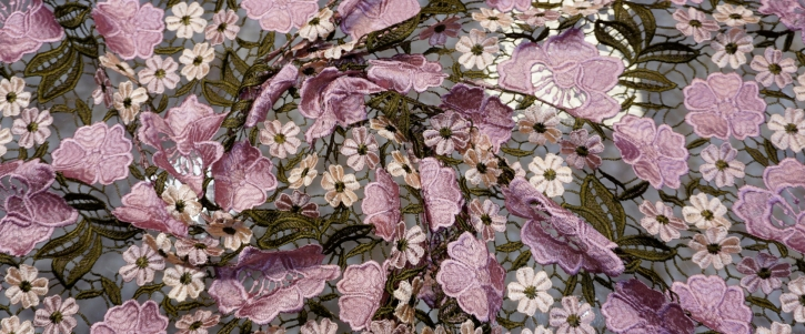 Spachtelspitze - rosa und weiße Blüten