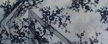 florale Spitze - nachtblau