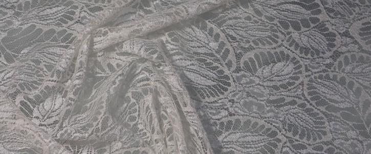 Spitze - Blättermotiv in creme