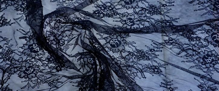 Tüllspitze - schwarz