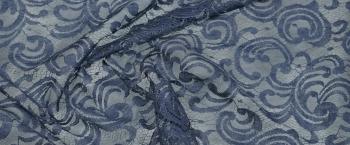 Tüllspitze - blaugrau