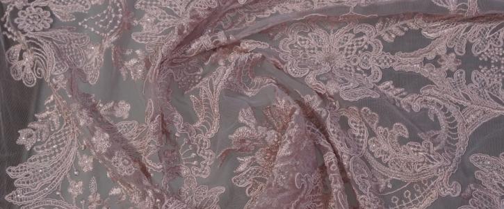 bestickte Spitze - puder rosa
