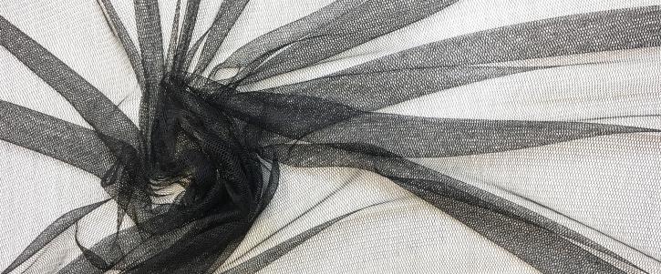 Seidentüll - schwarz