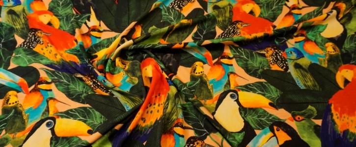 Viskosecrepe - Paradiesvögel