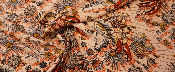 Viskosecrepe - floral