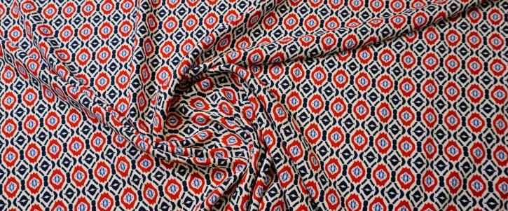 Viskosecrepe - symetrisches Muster