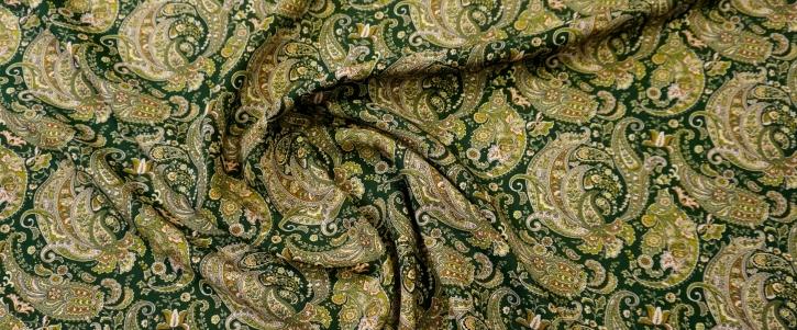 Viskose - Paisley, grün