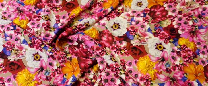 Viskosecrepe - Blütenmeer