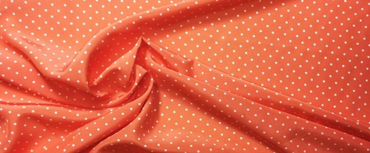 Viskose - Punkte auf orange