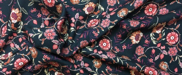 Viskose - Blumen und Ranken