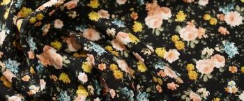 Crepe - helle Blumen
