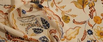 Viskosecrepe - Blumen und Blätter
