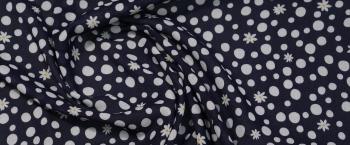 Viskose - weiß mit dunkelblau
