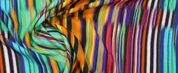 Viskose - bunte Streifen