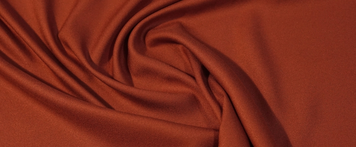 Viskosecrepe - orangerot