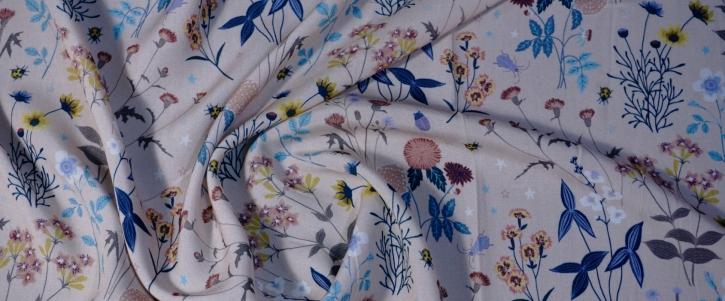 Viskose - puder mit Streublumen