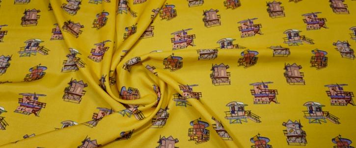Moschino - Strandkörbe auf gelb