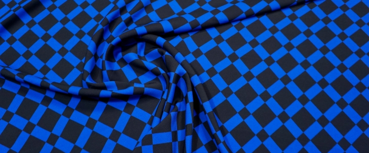 Viskose - schwarz/blau