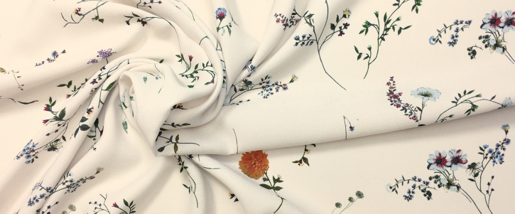 Viskose -  zarter Blumendruck