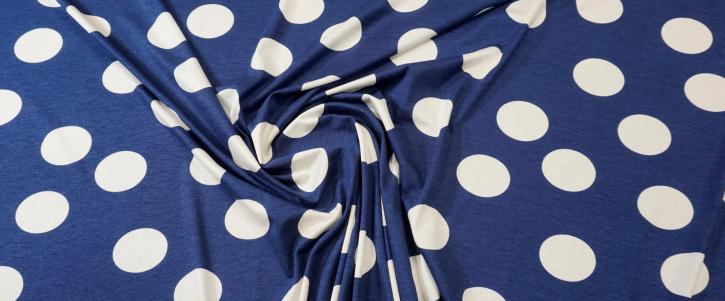 Viskosejersey - polka dots