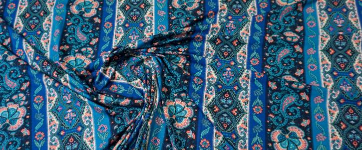 Viskosejersey - Blautöne