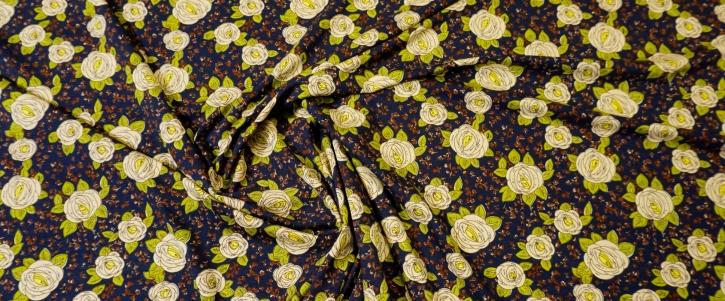 Viskosejersey - kleine Blumen