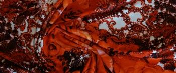Jersey - Rosen-/Ornamentenmotiv