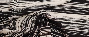 schwere Viskose - schwarz und weiß