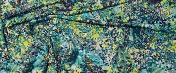 Viskosejersey - grün und blau
