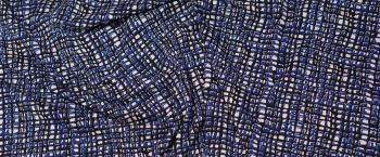 Viskosejersey - blau/schwarz