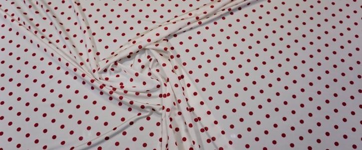 Slinky Jersey - polka dots, weiß