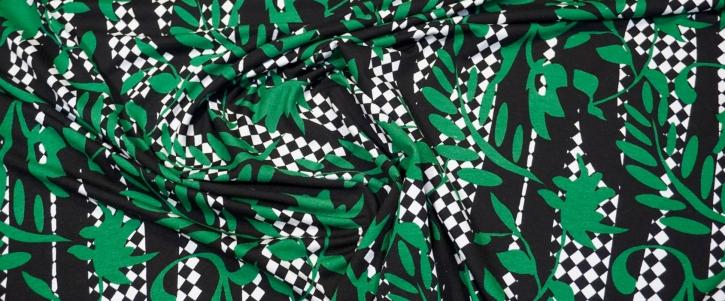 Jersey - grün auf schwarz/weiß