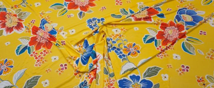 Jesey - Blumen auf gelb