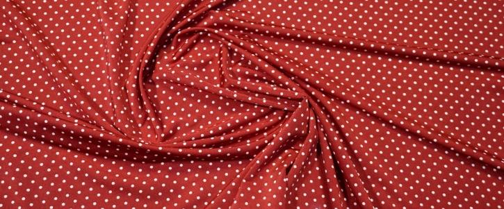 Slinky Jersey - polka dots, rot