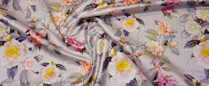 Viskose mit Baumwolle - Blumen